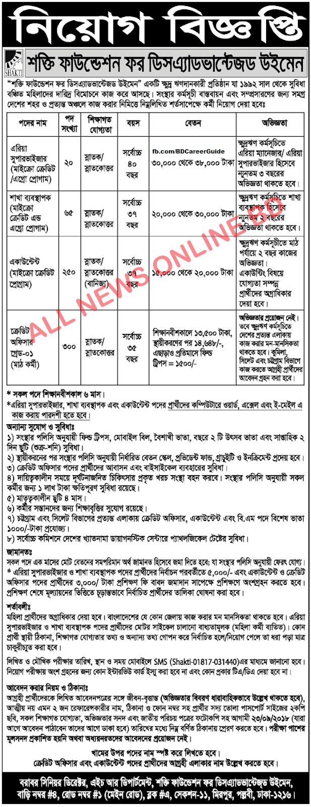 Shakti Foundation Job Circular 2018 1