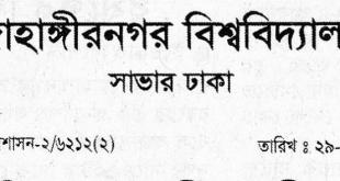 Jahangirnagar university job circular 2020
